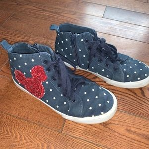 Gap Disney navy & red high top lace up sneakers